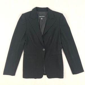 Giorgio Armani Womens Black Wool Blend Blazer 40